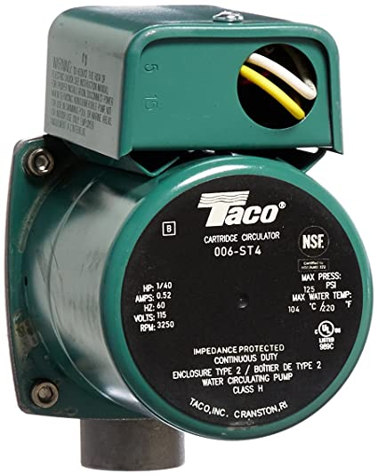 taco 006 st4 1 40 hp 115v stainless steel circulator pump sump taco 571 zone valve wiring taco 006 st4 1 40 hp 115v stainless steel circulator pump sump pump accessories amazon com