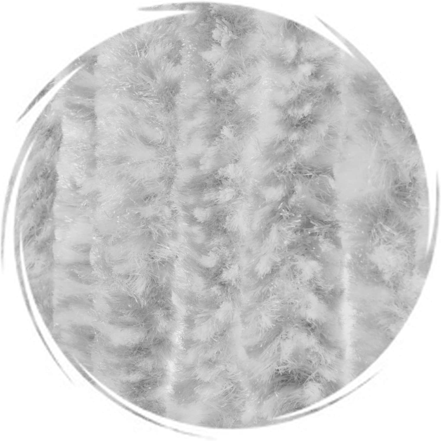 Protection de vos espaces int/érieurs Anti-Insectes Longueur et Largeur ajustables grand choix de couleur Rideau de porte Chenille de qualit/é sup/érieure Mix bleu//gris//blanc, 100 x 240 cm