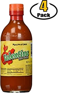 Valentina Salsa Picante Mexican Hot Sauce, Yellow Label, Mild/Medium Spicy - 12.5