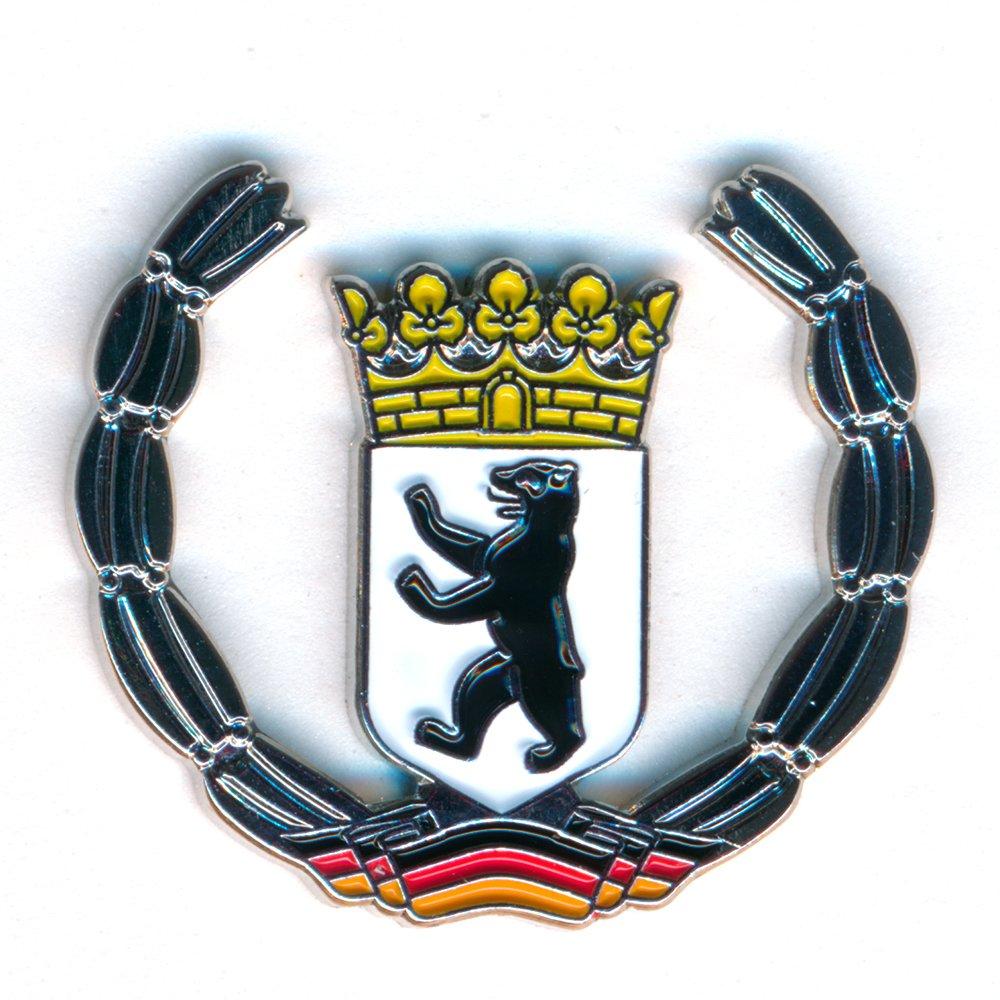 Berlin Wappen Deutschland Symbol Flagge Metall Button Badge Pin Anstecker 0439 Import / Hegerring