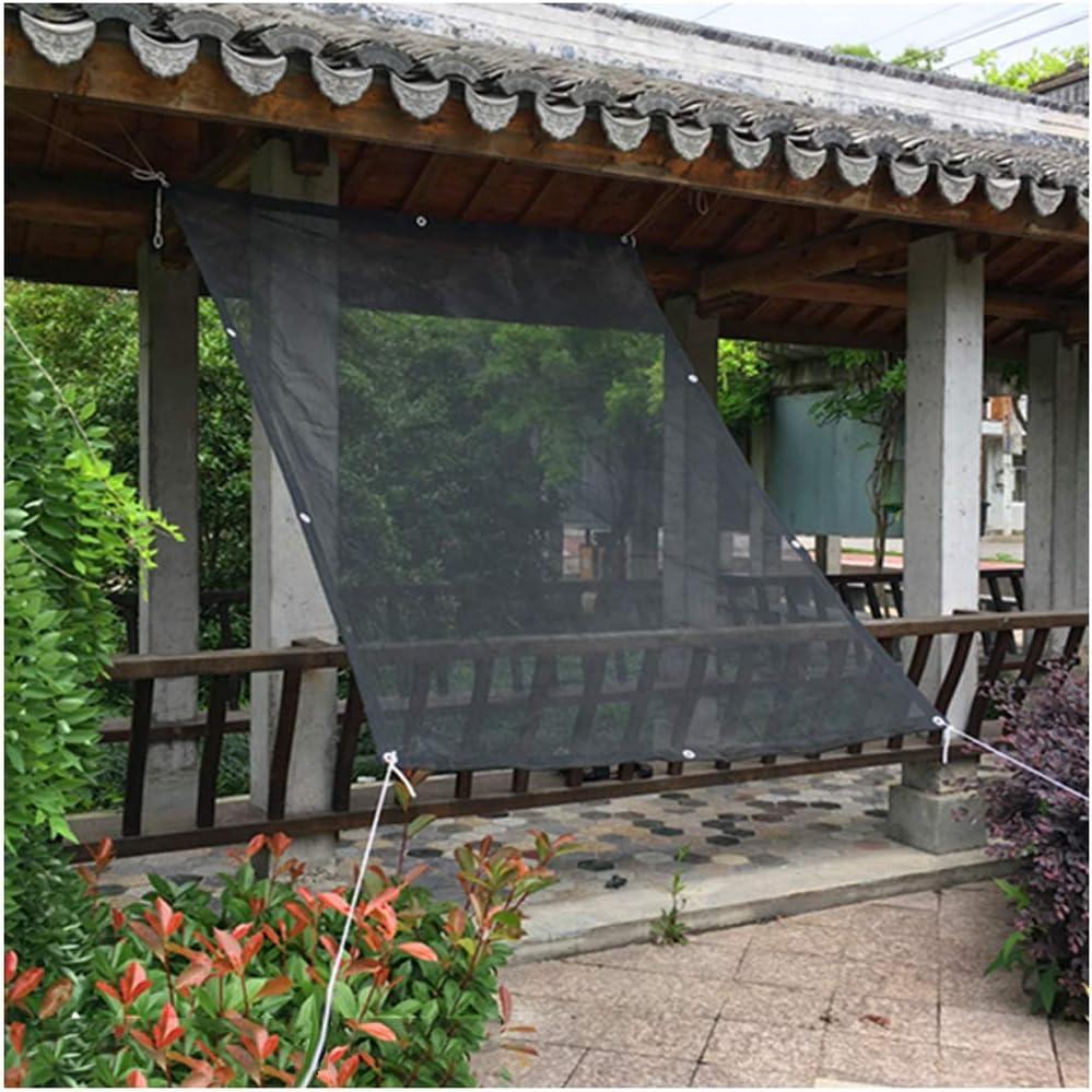 Vela de sombra toldo vela Para jardin patio Negro 90% Pantalla de ...