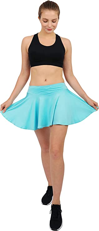 Women's Tennis Golf Skorts Workout Built-in Shorts Fitness Pleated Active Running Skirts