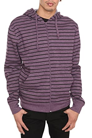 Black And Purple Striped Hoodie Size : Small at Amazon Men's ...