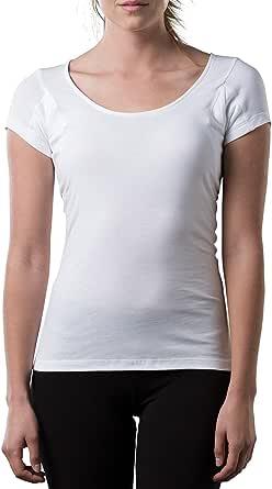 The Thompson Tee Sweatproof Undershirt for Women w/Underarm Sweat Pads (Original Fit,Scoop Neck)