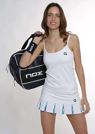 A40GRADOS Falda Pádel Filipa Blanca Stars, Tenis: Amazon.es ...