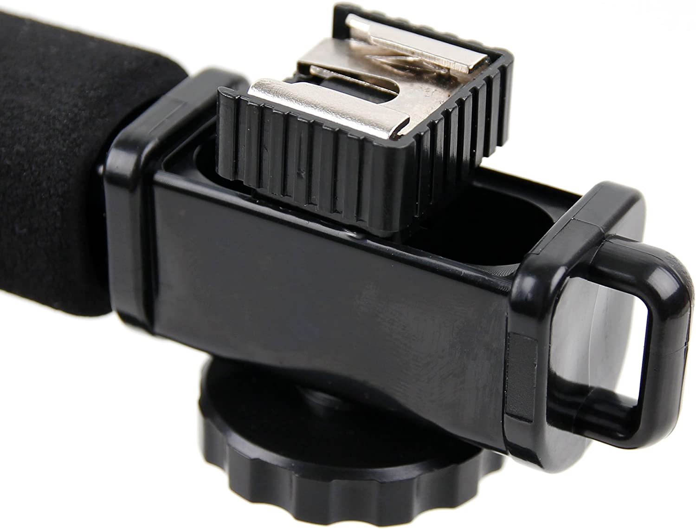 DURAGADGET Soft Grip Handheld Camera Stabiliser with Stereo//Flash Mount for The Panasonic HC-VX1K /& HC-WXF1