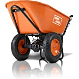 SuperHandy Wheelbarrow Electric Powered Utility Cart Ultra Duty 24V DC 180W AGM Driven 330LBS (150kgs) Capacity & 4 cu.ft. of