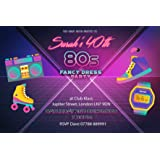 totally 80 s invitations pack of 8 party invites amazon co uk
