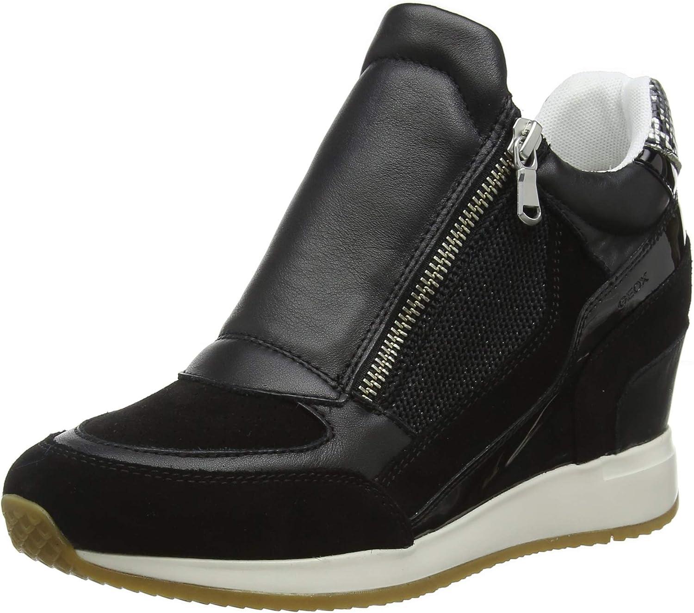 Geox D Nydame A, Zapatillas Altas para Mujer