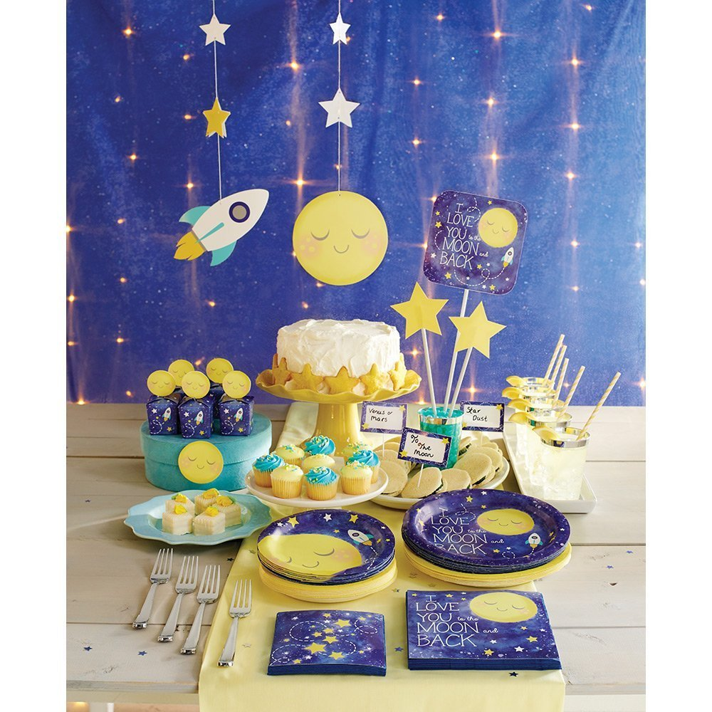 to The Moon and Back Party Supply Pack: Jointed Banner, Dizzy Danglers, and Centerpiece (Variety Pack Bundle) by Cedar Crate Market (Image #5)
