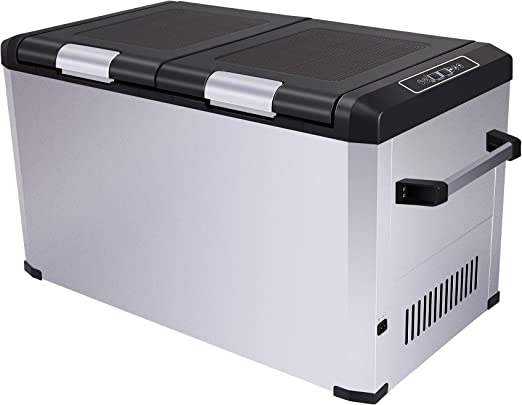 Amazon Com Cigreen 63 4 Quart 60 Liter Portable Refrigerator Compressor Electric Powered Portable Cooler Fridge And Freezer For Camping Travelling Outdoor And Home Use 12 24v Dc And 110 240 Ac Dc 62fd Appliances
