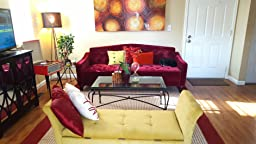 Amazon 9 by Novogratz Vintage Tufted Sofa Sleeper II Grey Velour Kitchen & Dining