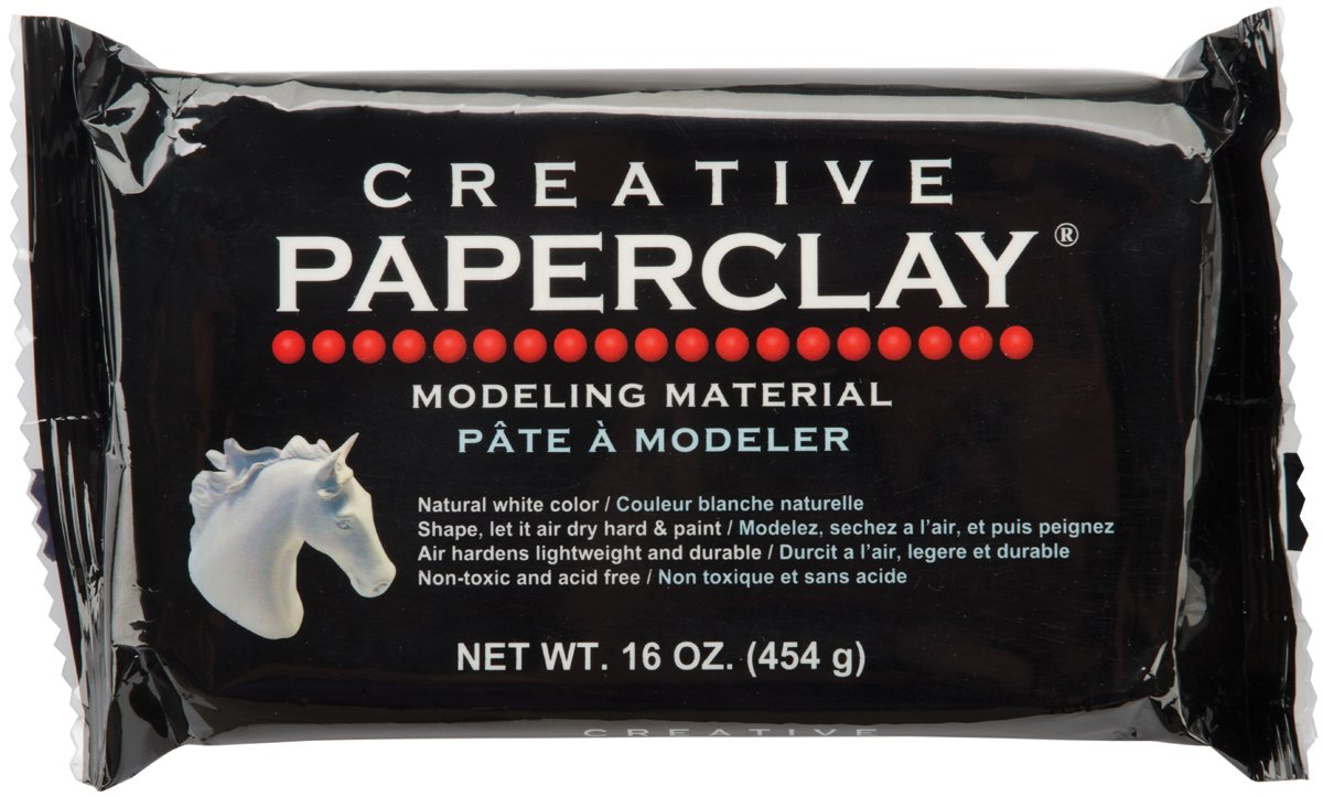 Creative Paperclay for Modeling Compound, 16-Ounce, White Notions - In Network 811