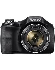 """Sony DSC-H300 - Cámara compacta de 20.1 MP (pantalla de 3"""", zoom óptico 35x, estabilizador de imagen electrónico, vídeo HD 720p), negro"""