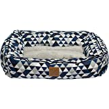Mog & Bone Bolster Dog Bed Blue Diamond Print Large