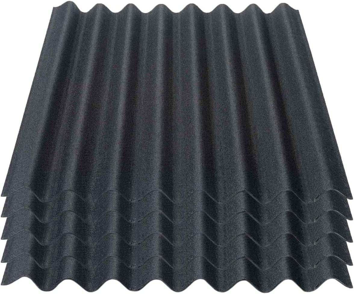 schwarz Onduline Easyline Dachplatte Wandplatte Bitumenwellplatten Wellplatte 5x0,76m/²