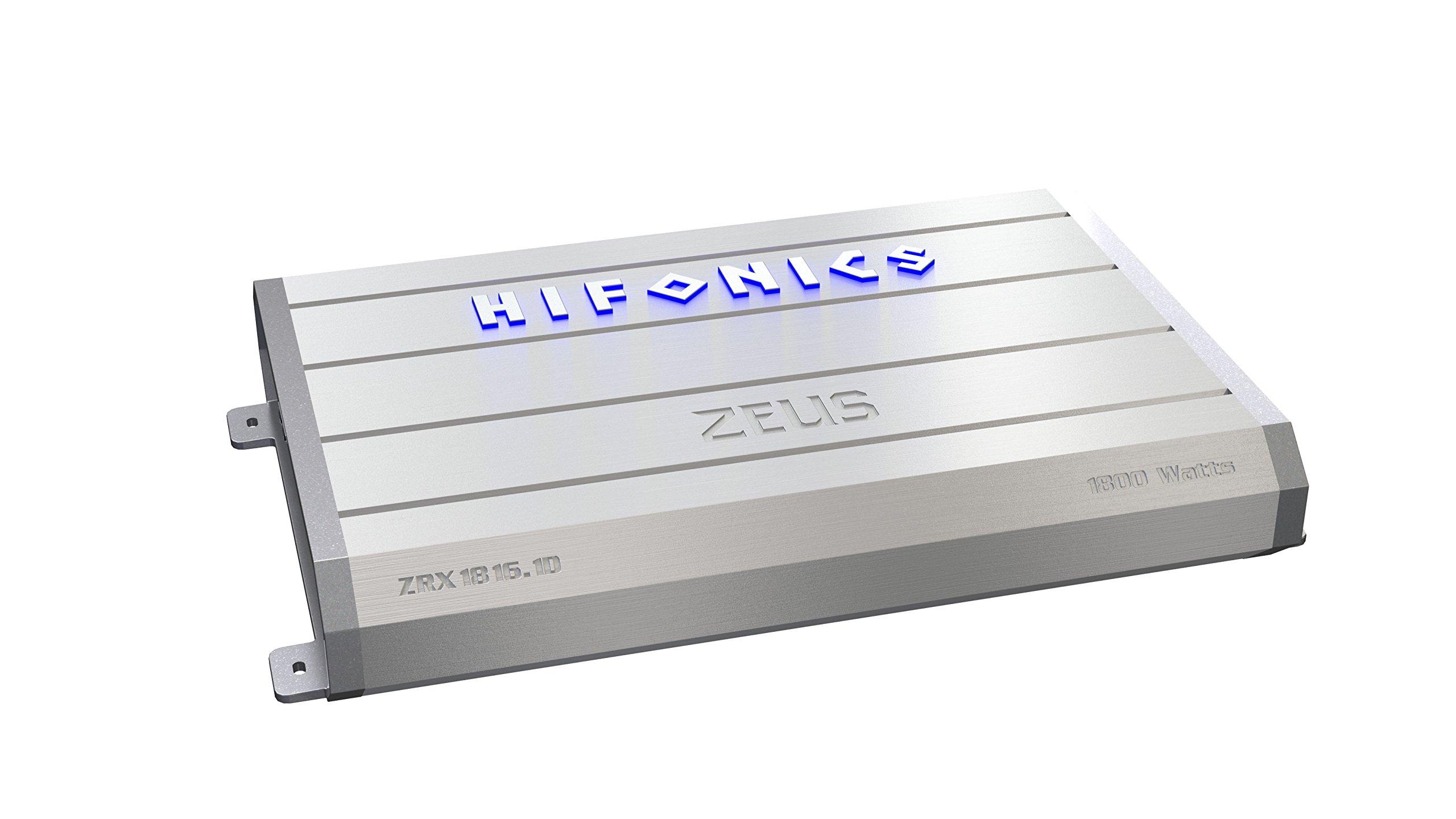 Hifonics ZRX1816.1D Zeus Mono Class-D Subwoofer Amplifier, 1800-Watt