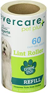 Evercare Extra-Sticky Pet Hair Roller Refill, Green
