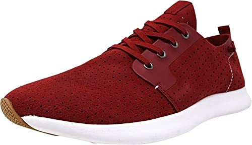 771cb6d223f Steve Madden Men's P-Chyll Red Ankle-High Suede Fashion Sneaker ...