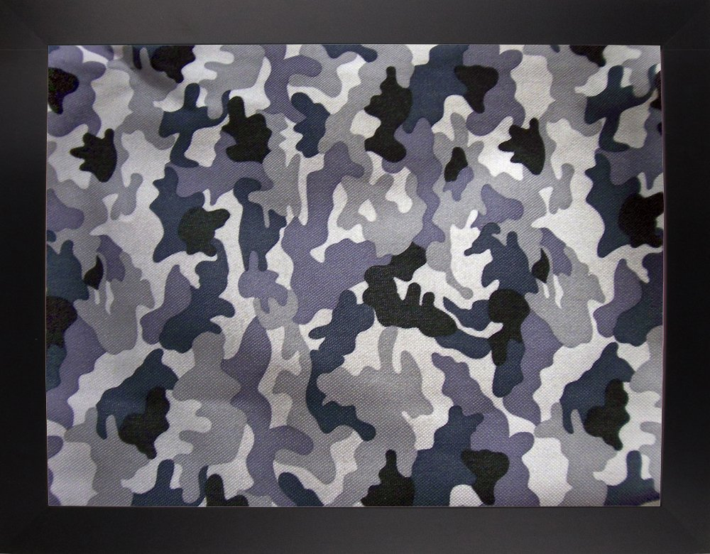 Frame USA MARJUL112362 Large Snow Camo Print by Marcus Jules 30 x 40 Affordable Black