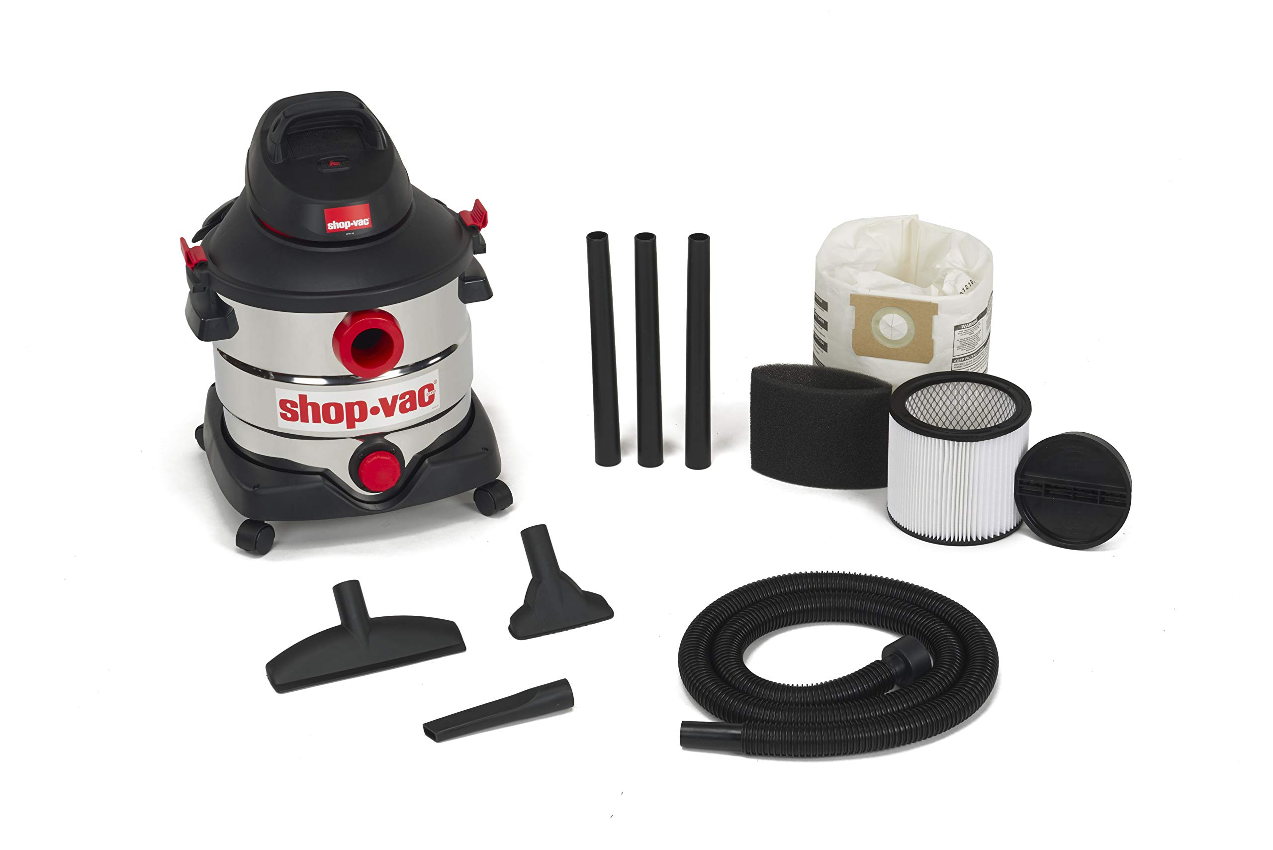 Shop-Vac 5979403 8 gallon 6.0 Peak Hp Stainless Wet Dry Vacuum by Shop-Vac