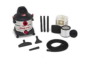 Shop-Vac 5979403 8 gallon 6.0 Peak Hp Stainless Wet Dry Vacuum