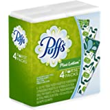 Puffs Plus Lotion Facial Tissues, 4 To-Go Packs; 10 Tissues Per Pack (Pack of 24)