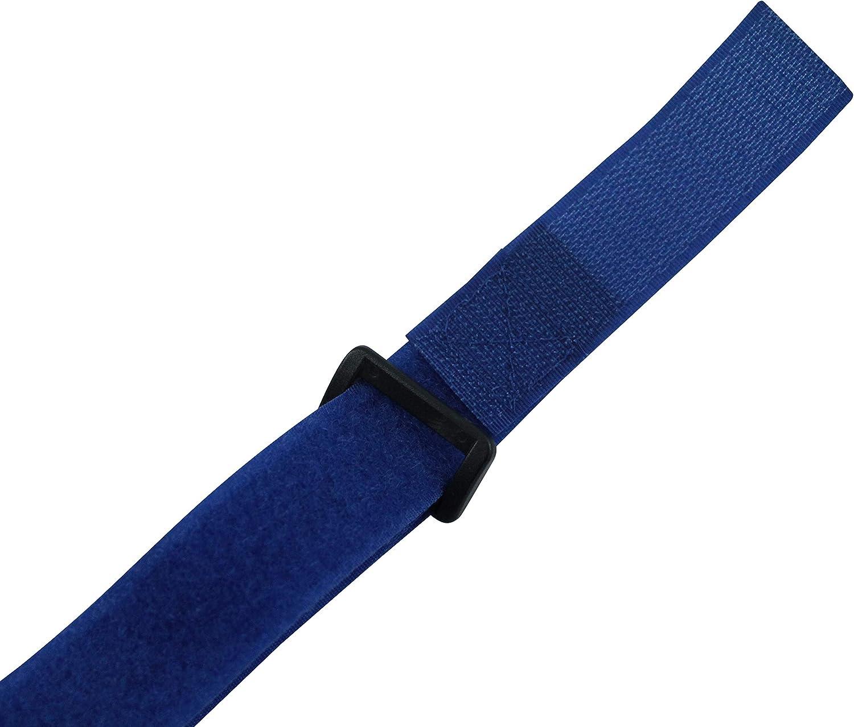 Sport Fahrrad Blau Schwarz AceCamp Klettgurt Packriemen 2.5 x 60 cm Klettband Klettverschluss Allzweckgurt Befestigungsriemen Grau oder Blau