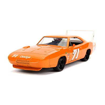 Jada Toys Big Time Muscle 1969 Dodge Charger Daytona, Orange 71, 1: 24 Scale Die-Cast Vehicle Collectible Car, 31453: Toys & Games [5Bkhe0507025]