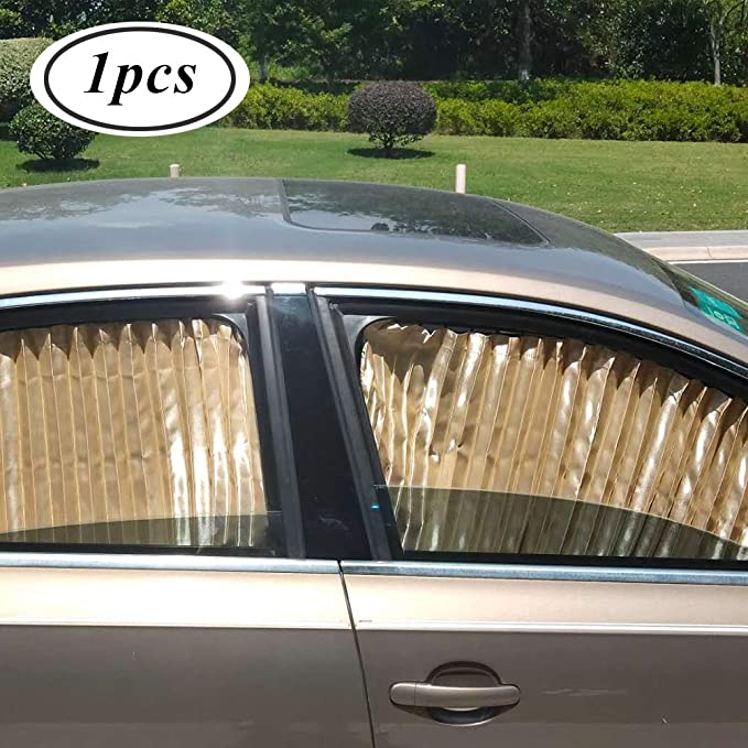 Rectangular Magnetic Car Sunshade Curtains Universal Privacy Side Window Sunshades Sun Protection Screen for Baby and Kids 2 PCS