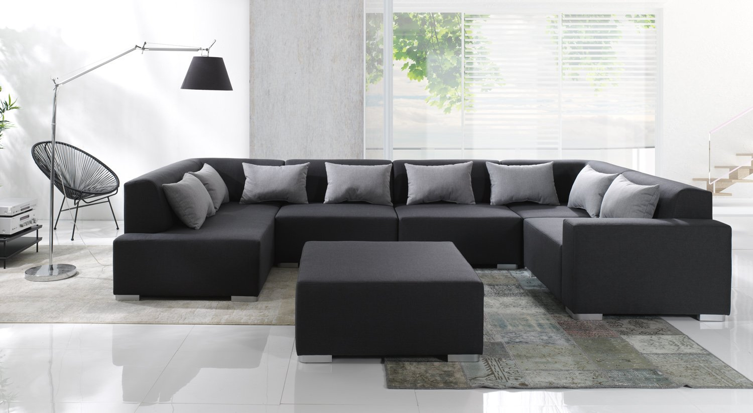 Sofa Couchgarnitur Couch Sofagarnitur Cubic 6 Teile Modulsystem Inkl