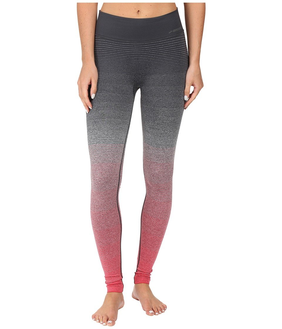 Brooks Damen Laufhose Lang Streaker Tight Grau - 220989-614