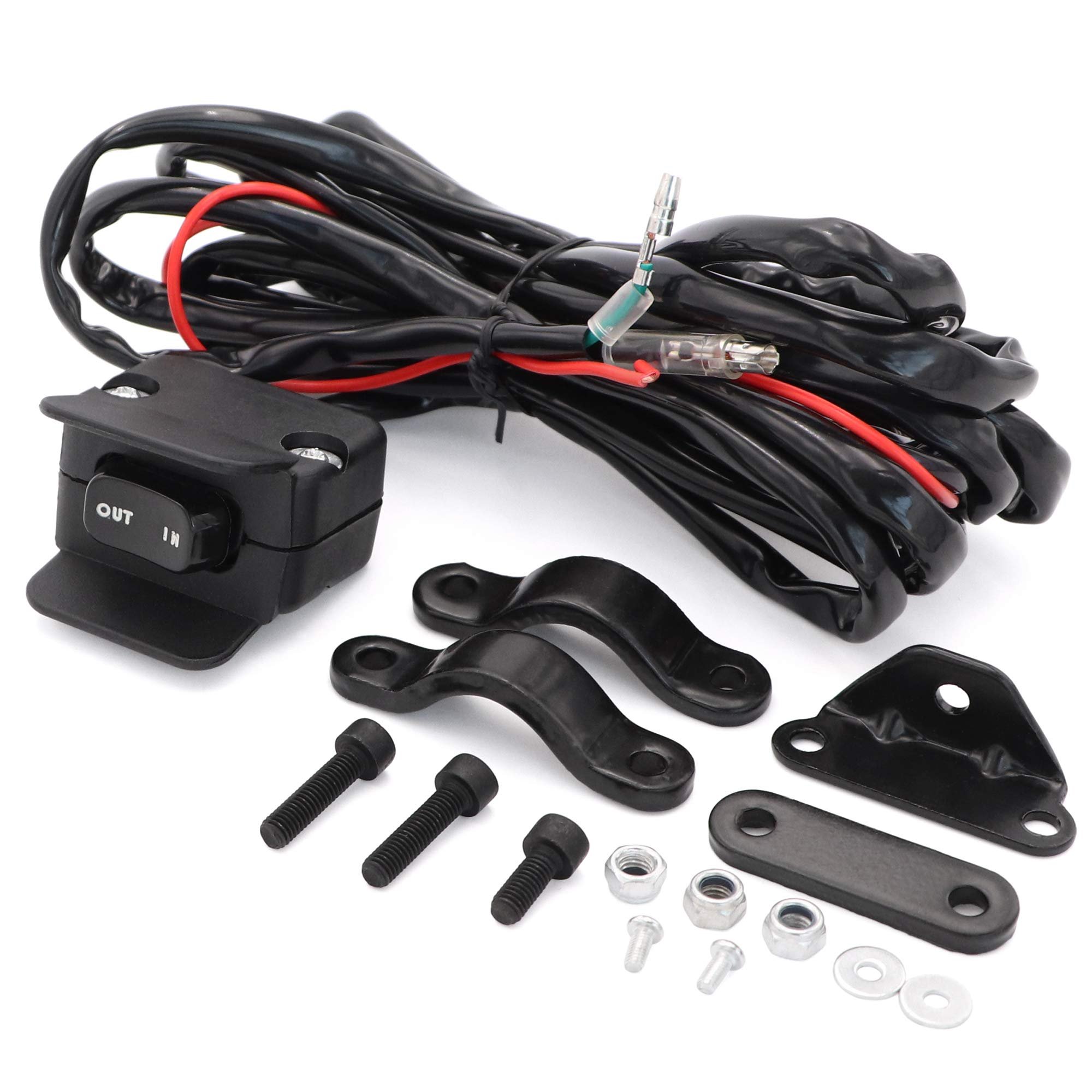 Taukealugs 12V Winch Rocker Thumb Switch with Mounting Bracket Handlebar Control line kit for ATV UTV by Taukealugs