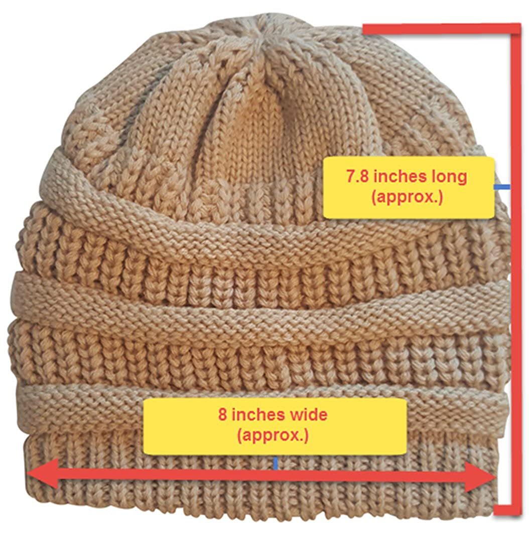 8eeb7c5eaca Amazon.com  Always Eleven Satin Lined Knit Beanie Hat  Clothing