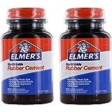 Elmer's No-Wrinkle Rubber Cement, Acid-Free, 4 Oz Bottle, Pack of 2