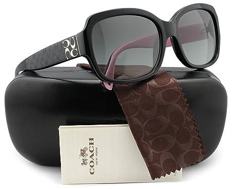 edbda8ddc9 COACH HC8001 L001 Emma Sunglasses Black w Grey Gradient (5053 11) HC 8001  505311 57mm Authentic + Cleaning Care-Kit  Amazon.co.uk  Clothing
