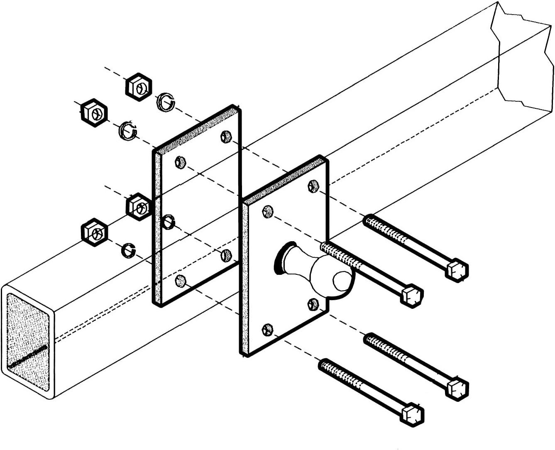 48385 EAZ LIFT Parts//Accessories Sway Control Adapter 2 x 3