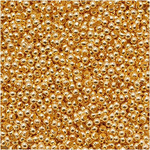 Genuine Metal Seed Beads 15/0 24Kt Gold Plated 15 -