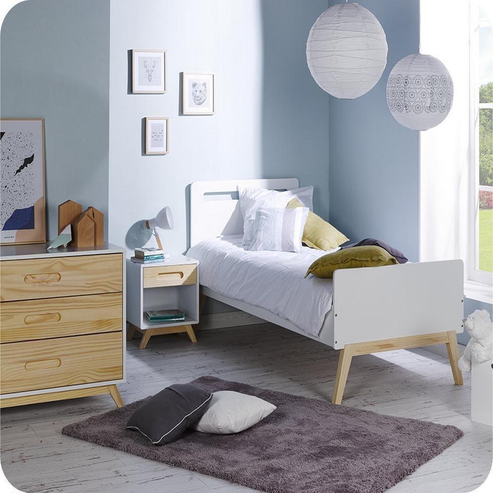 Kinderzimmer komplett Nino weiß und Kiefer Farbe
