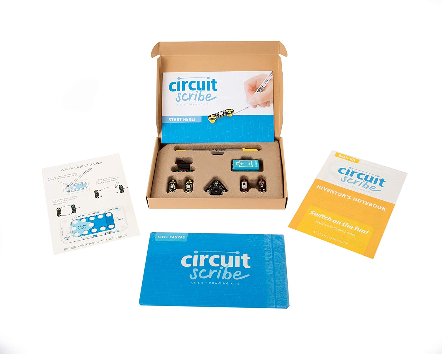 This Pen Kit Comes With An Actual Printed Computer Circuit Board Scribe Basic Includes Conductive Silver Ink To Learn Explore And Create Your Own Circuits Switches Toys Games