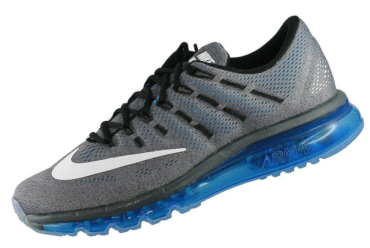 low cost ebae6 43409 Amazon.com  Nike Air Max 2016 Men Running Run Sneakers New Grey White Blue  - 15  Road Running