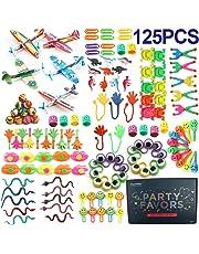 Amy&Benton Surtido de 125 juguetes para rellenar piñatas y bolsas de regalo de fiestas de cumpleaños infantiles o para el colegio