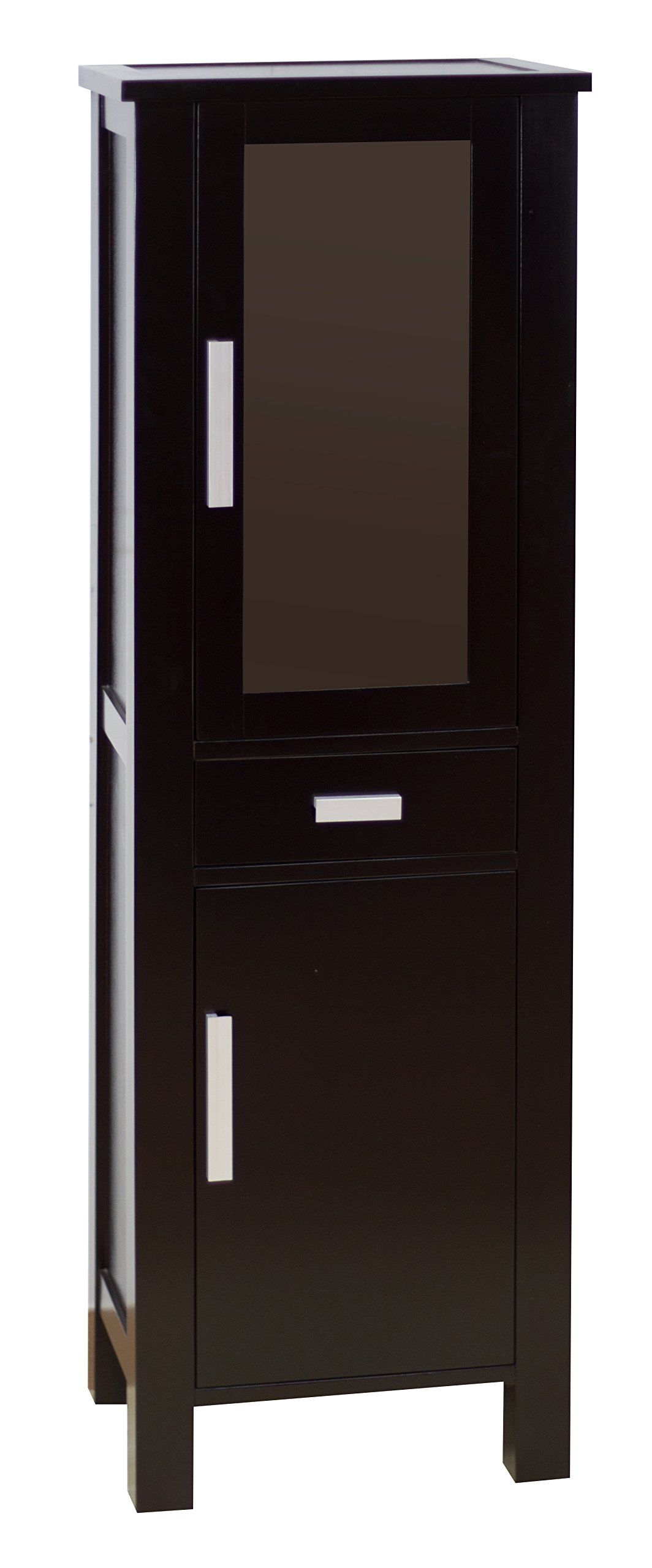American Imaginations AI-102-33 Transitional Birch Wood-Veneer Linen Tower, 20-Inch x 62-Inch, Dark Mahogany Finish