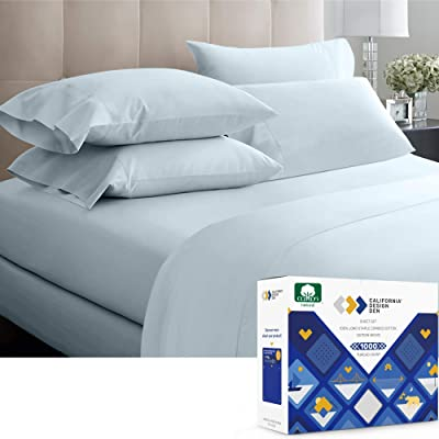 400 Thread Count Luxurious Cotton Sateen Queen King Bed Sheet Sets White Natural