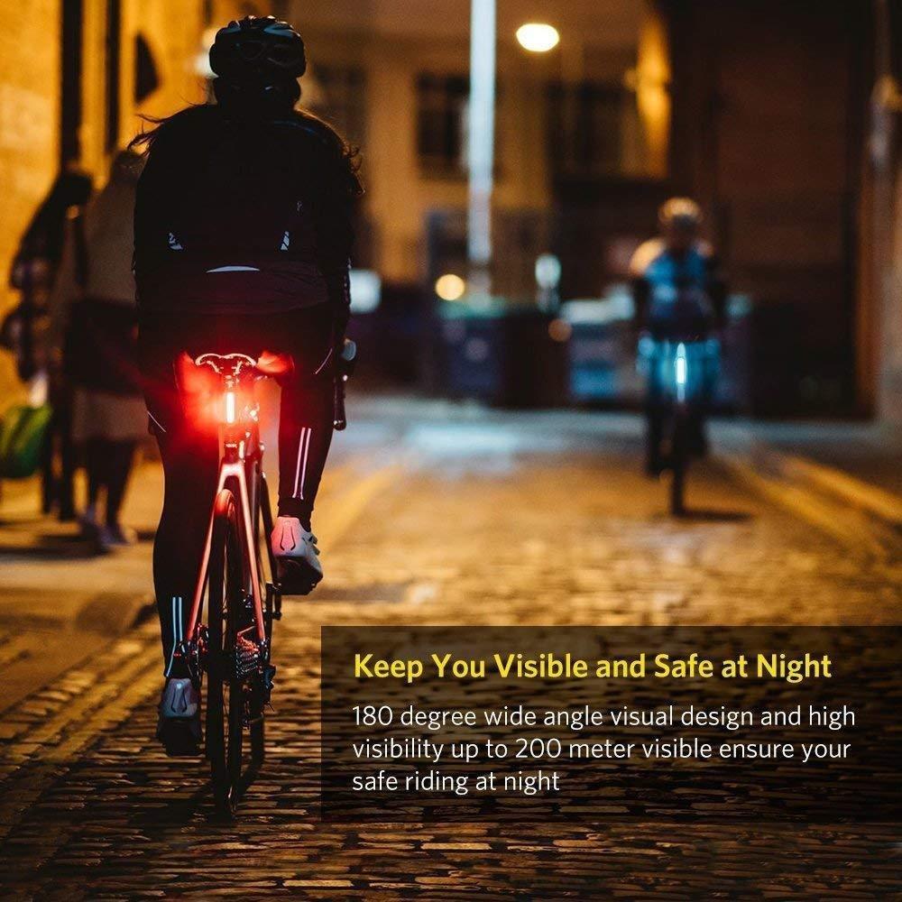 Led Waterproof Bicycle Tail White Flash Light Bike Safety Cycling Warning LampCN