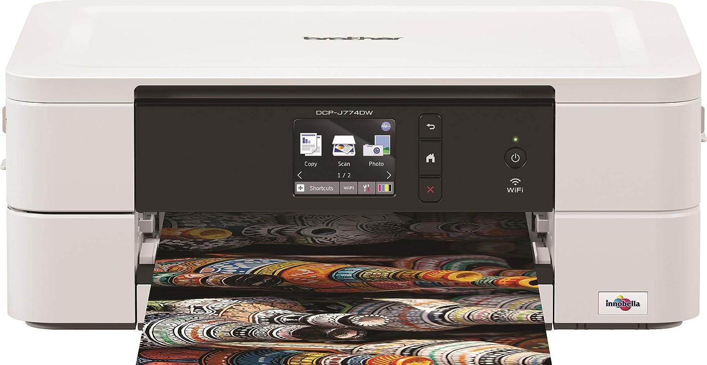 Brother dcpj774dwrf1 – Impresora multifunción Color 12 PPM Color Blanco: Amazon.es: Informática