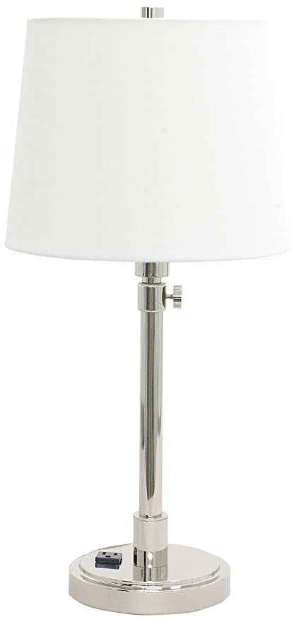 Merveilleux House Of Troy TH751 PN Townhouse Adjustable Table Lamp With Convenience  Outlet, Polished Nickel
