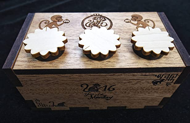 Year of the Monkey Puzzle Box 2016 limited edition with free custom laser engraving