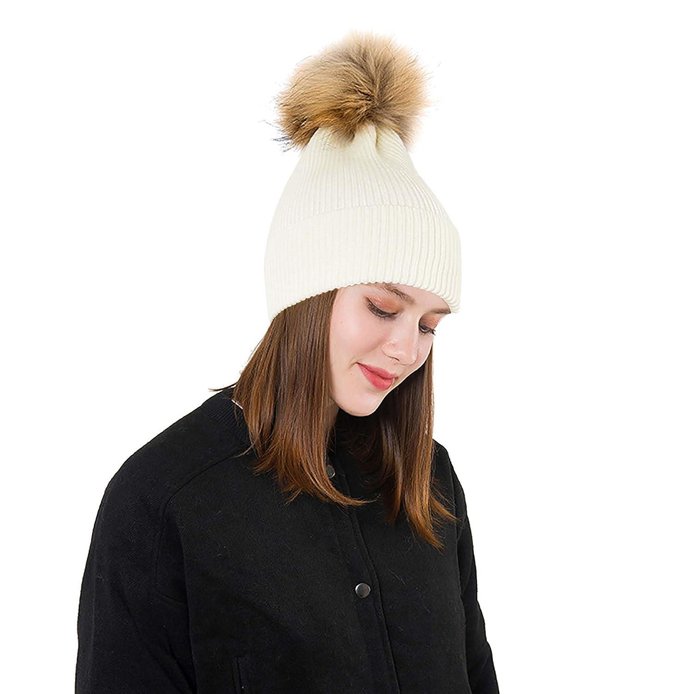 2b7cb9668bd EINSKEY Bobble Hats for Women