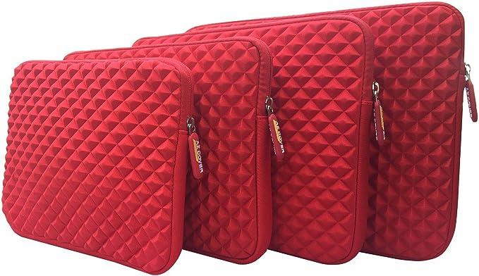 SL2 SL3K1 Red AZ-Cover 14-Inch Simplicity Stylish Diamond Foam Shock-Resistant Neoprene Sleeve For GIGABYTE P34Wv5-SL1 14 FHD GeForce GTX970M Skylake i7-6700HQ SL3K2